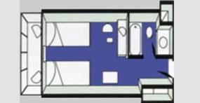 龙腾盛世号游轮标准间平面图