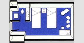 龙腾欢乐号游轮标间平面图