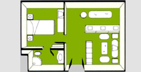 龙腾欢乐号游轮总统套房平面图