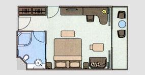 长江探索号游轮豪华标间平面图