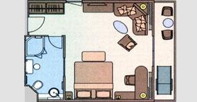 长江探索号游轮标准套房平面图