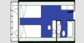 龙腾星光号标准间平面图