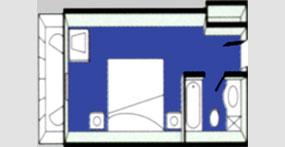龙腾星光号商务单间平面图