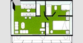 龙腾星光号总统套房平面图
