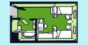维多利亚凯蒂号游轮行政套房平面图