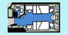 维多利亚凯娜号游轮标准间平面图