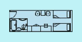 维多利亚凯珍号游轮标准间平面图