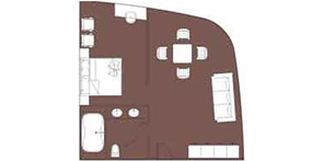 维多利亚凯珍号游轮豪华套房平面图