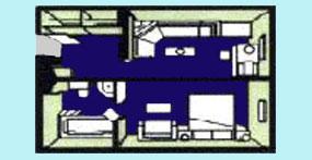 维多利亚凯莎号游轮行政套房平面图
