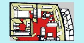 维多利亚凯莎号游轮香格里拉套房平面图