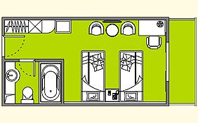 总统六号游轮豪华标准房平面图