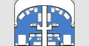 维多利亚五号游轮总统套房平面图