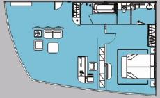 长江二号游轮总统套房平面图