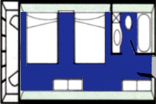 华夏神女1号游轮标准间平面图