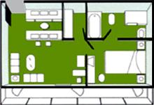 华夏神女1号游轮总统套房平面图