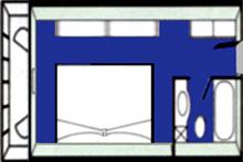 华夏神女1号游轮豪华单人间平面图