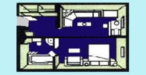 维多利亚凯娅号游轮豪华套房平面图