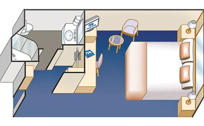 藍寶石公主號郵輪內艙房平面圖