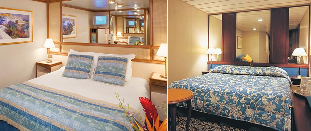 蓝宝石公主号邮轮内舱房实景图