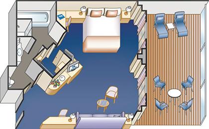 藍寶石公主號郵輪套房平面圖