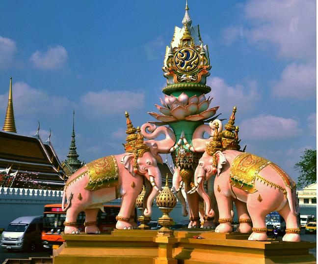 重庆到泰国体验森林骑大象