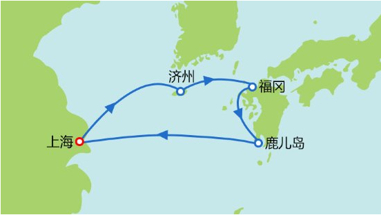 """赛琳娜号邮轮歌诗达""""赛琳娜号""""   邮轮旅游  日本航线  17年启程航行图"""