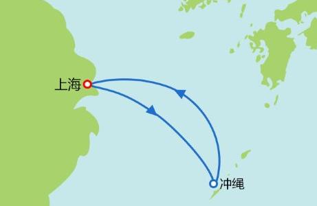 海洋量子号邮轮海洋量子号 邮轮旅游  日本航线 5/6/7日游航行图