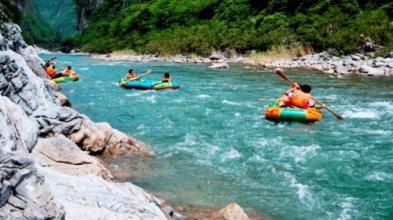 綦江响马河峡谷漂流、东溪古镇一日游夏季漂流季-响马河