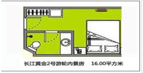长江黄金六号游轮内景房平面图