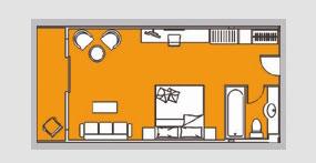黄金八号游轮豪华大床房平面图
