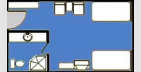 维多利亚七号游轮豪华标准间平面图