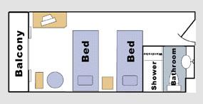 长江传说号游轮标准间平面图