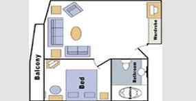 长江传说号游轮总统套房平面图