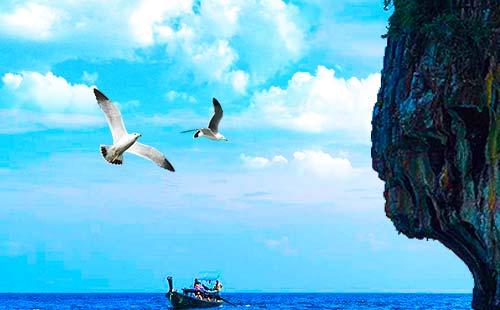 泰国普吉岛<珊瑚岛香蕉船+拖曳伞>双飞7日游星澜520
