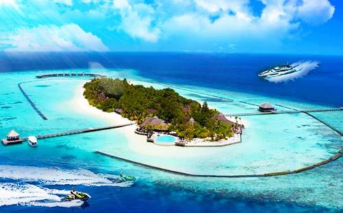 马尔代夫自由行双飞7日游(白雅湖)<4晚标准房+快艇上岛+早中晚餐>重庆直航