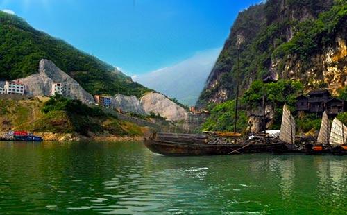 最美豪华观光游轮重庆三峡快捷二日游奉节上船