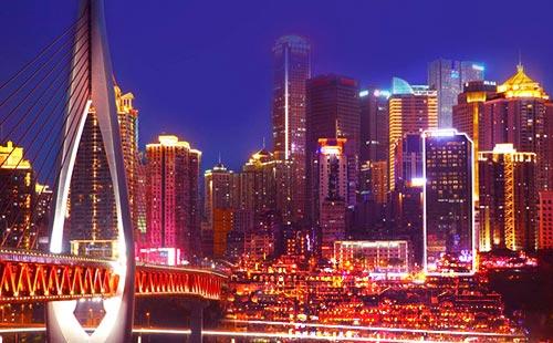 重庆两江夜游4