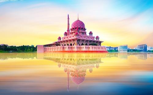 粉红水上清真寺1