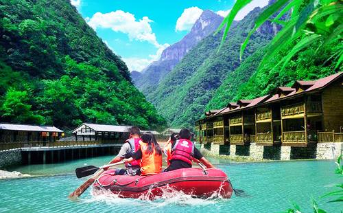 重慶佛影峽漂流-探險森林溯溪谷品質一日游激情漂流