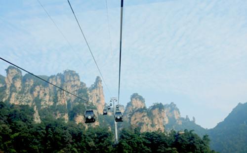 張家界森林公園-玻璃廊橋火車雙座4日游D2張家界火車散拼