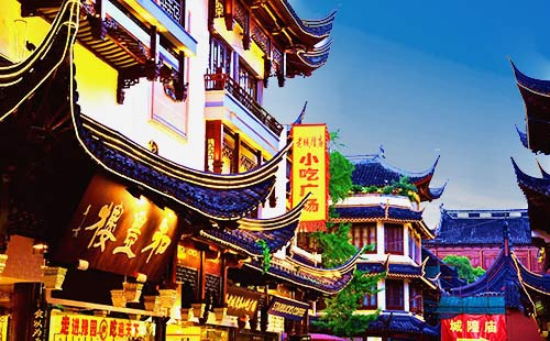 华东旅游_江南庙会_城隍庙老街