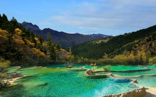 黄龙、花湖、月亮湾双汽五日游全景阿坝经典环线