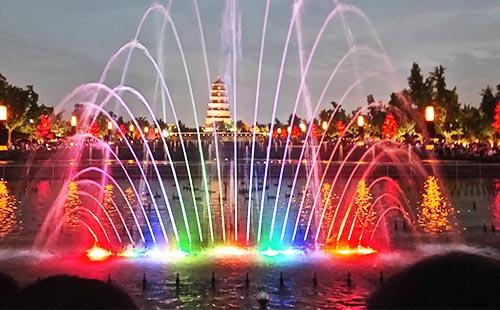 西安大雁塔音乐喷泉1