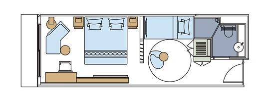世纪荣耀号游轮家庭套房平面图