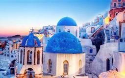 浪漫希腊米克诺斯+圣托里尼双岛半自由行8日游