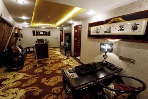 黄金6号游轮总统套房客厅