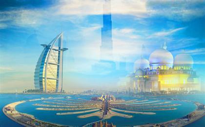阿聯酋迪拜雙飛6日游<豪華游艇+夜游清真寺+4-5星酒店>CA重慶起止,眾行系列
