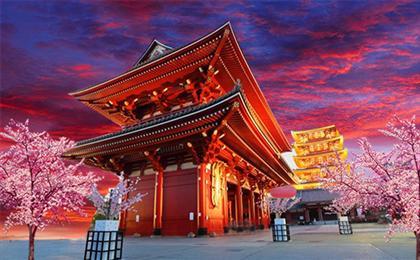 日本东京+横滨+河津赏樱6日游我和伊豆早樱的约会