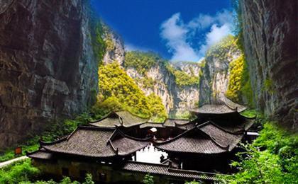 【纯玩】重庆武隆天坑三桥-龙水峡地缝-羊角古镇-十二道风味一日游探秘武隆