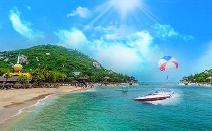 三亚亚特兰蒂斯-蜈支洲岛-天涯海角-亚龙湾-玫瑰谷纯玩双飞5日游摩登希尔顿